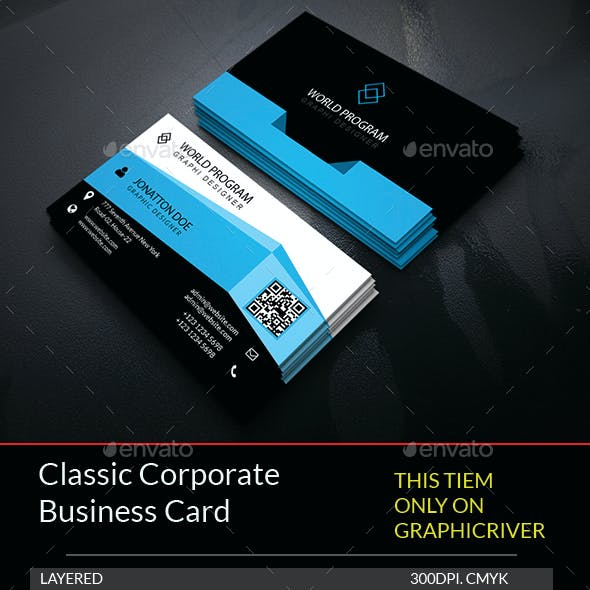 Classic Corporate Business Card Template.214