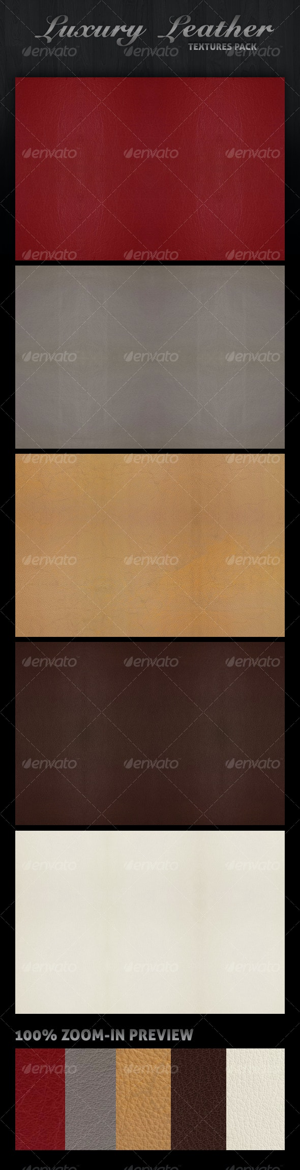 Luxury Leather Textures Pack - Fabric Textures