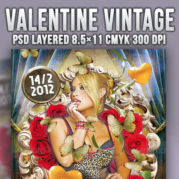 Valentine Vintage Flyer