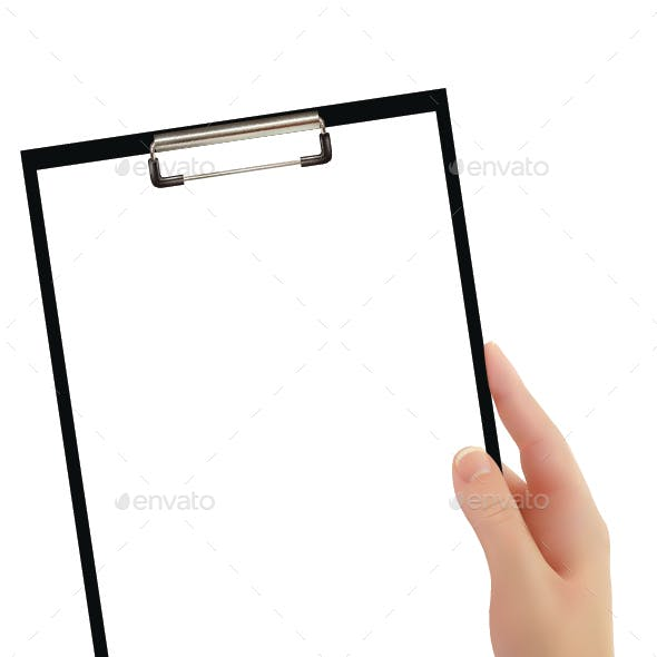 Hand Holding Clipboard
