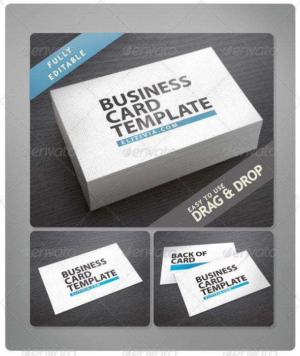 Elitivia Triple Bcard Mock-Up Black Style - Business Cards Print