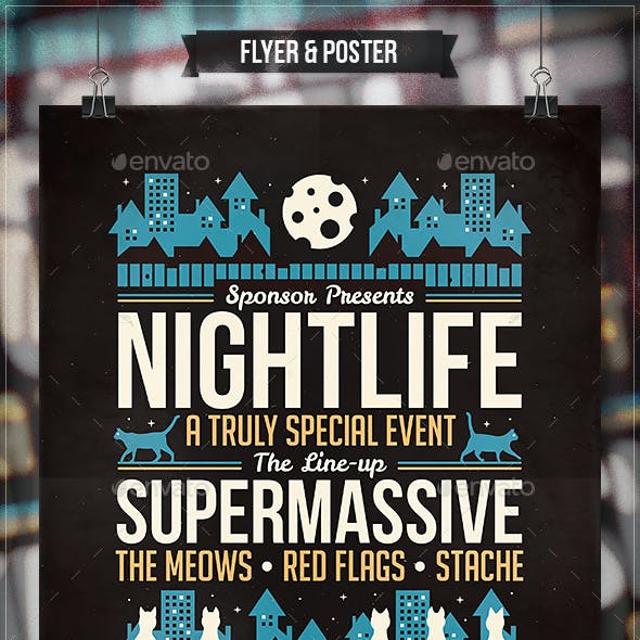 Nightlife - Flyer & Poster