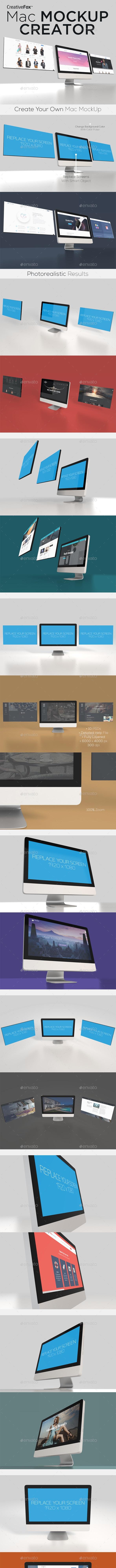 Mac Mockup Creator - Multiple Displays