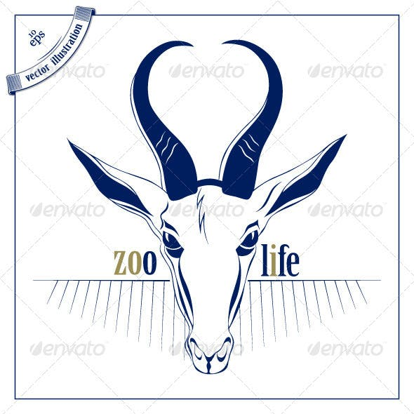 Antelope Deer Head Icon