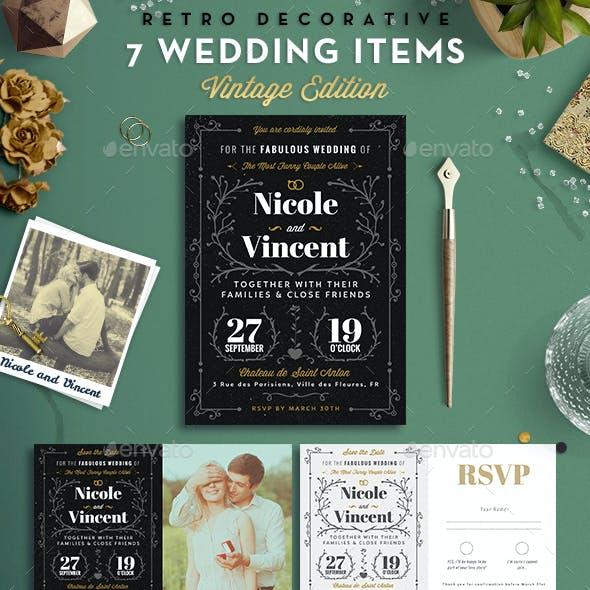 7 Vintage Items - Wedding Pack VII