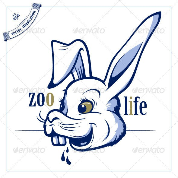 Funny Cartoon Rabbit Smile