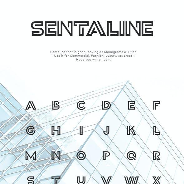 Sentaline Font Monogram