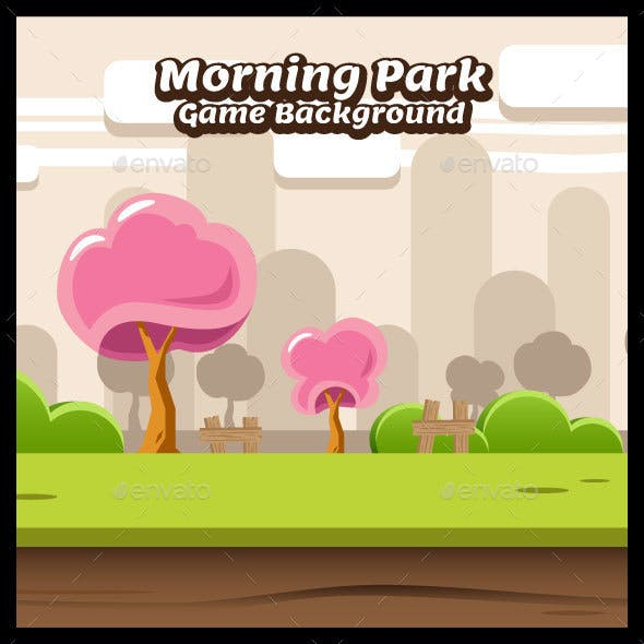 Morning Park Game Background