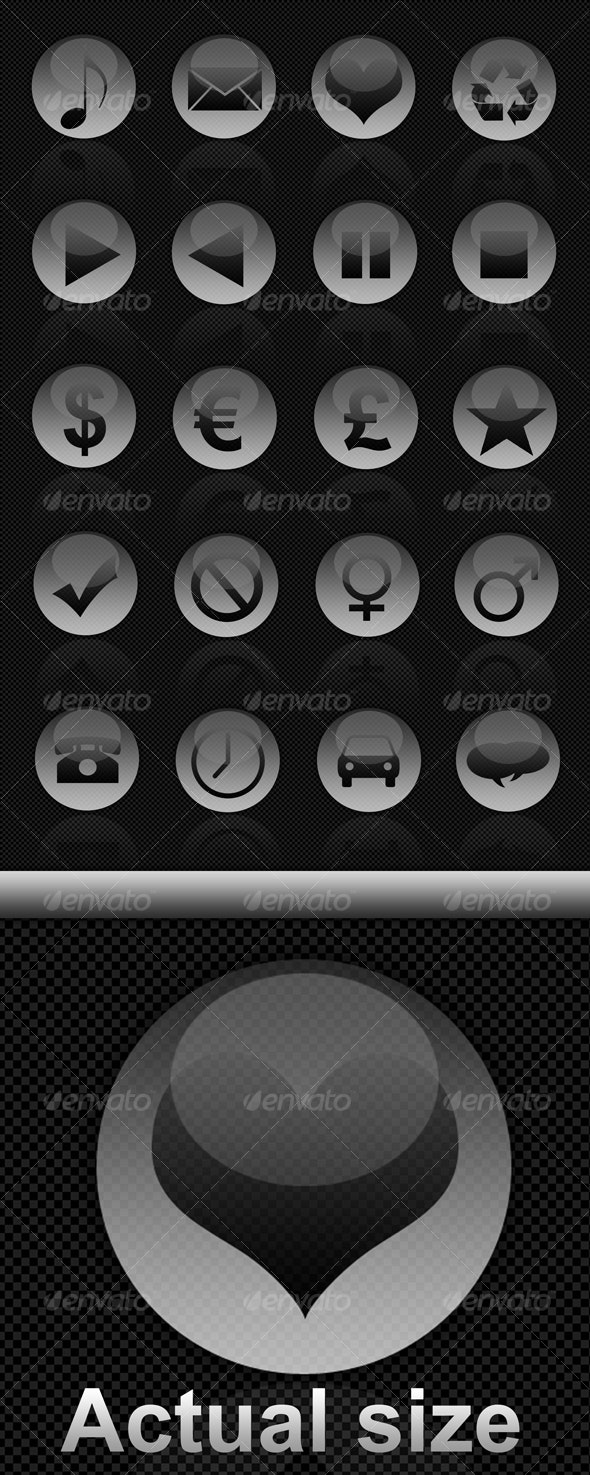 Glossy icons - Web Icons