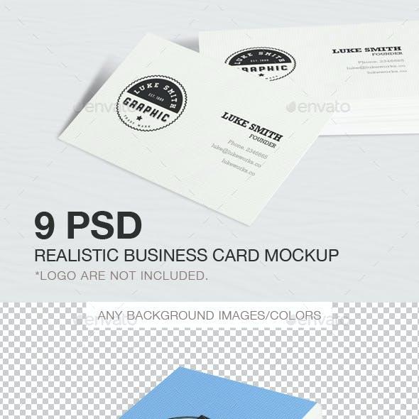 9 PSD Realistic Business Card Mockup