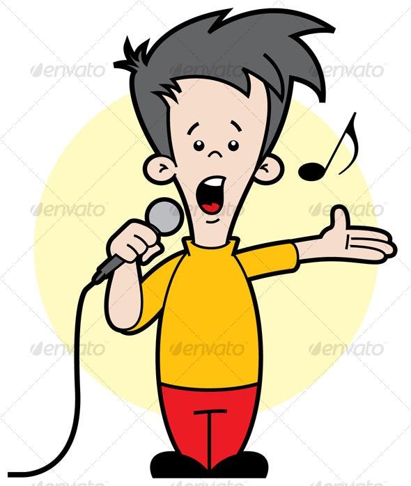 Kid Singing - People Characters