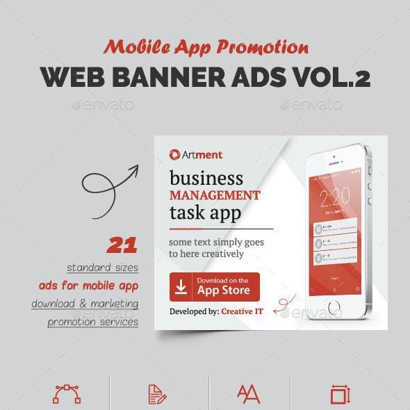 Mobile App Web Banner Ads