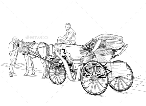 Horse Drawn Carriage - People Characters