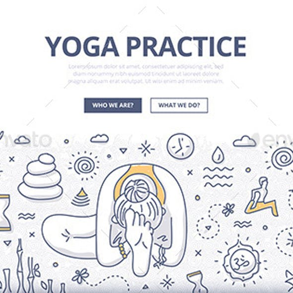 Yoga Doodle Concept