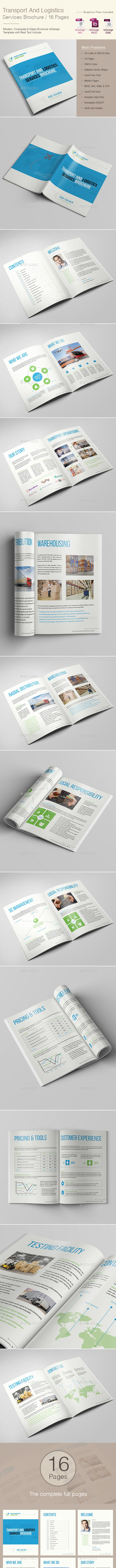 Transport And Logistics Services Brochure - Corporate Brochures