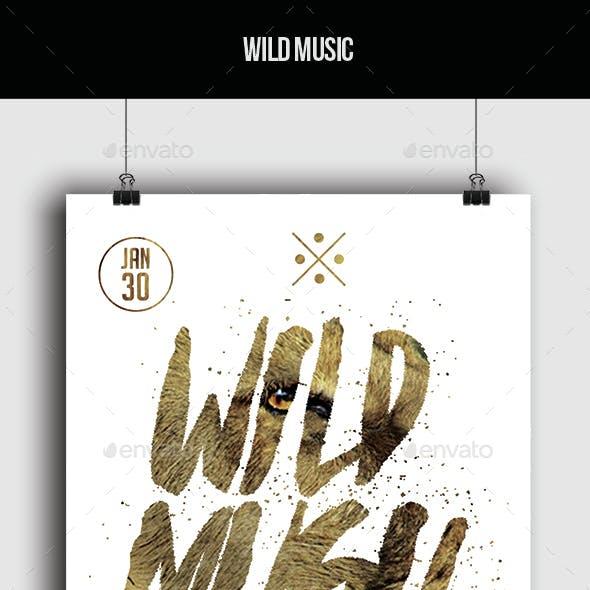 Wild Music - Flyer