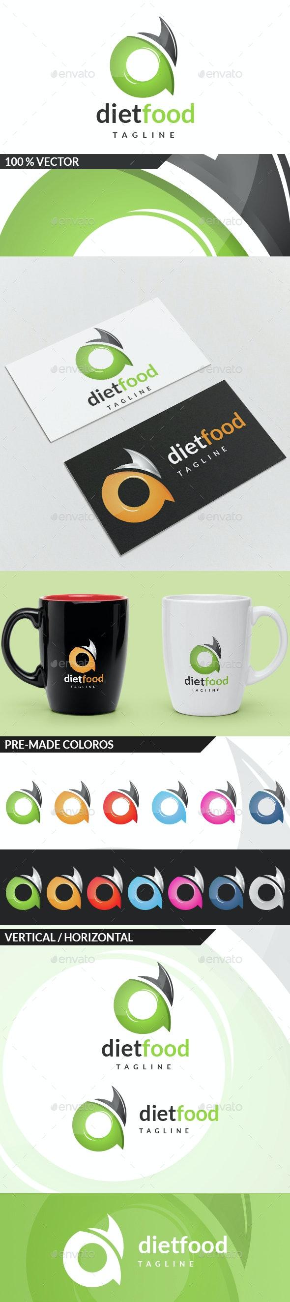 Diet Food - Letter D Logo - Letters Logo Templates