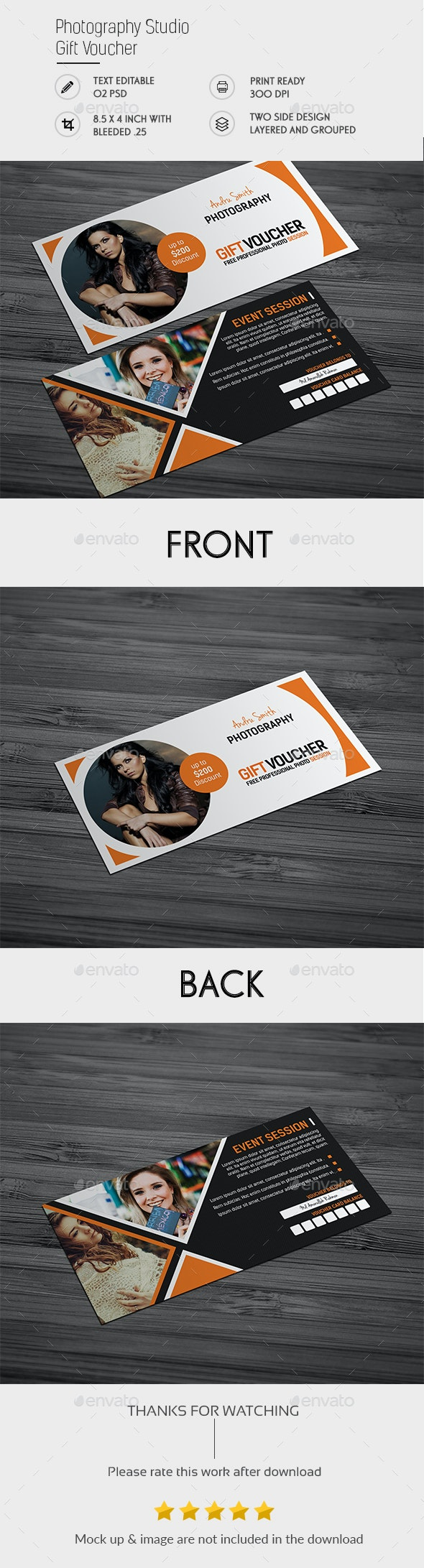 Photography Studio Gift Voucher - Greeting Cards Cards & Invites