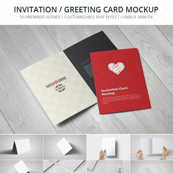 Invitation / Greeting Card / A5 Brochure Mockup