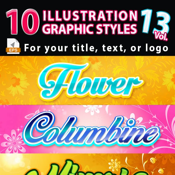 10 Illustrator Graphic Styles Vol.13