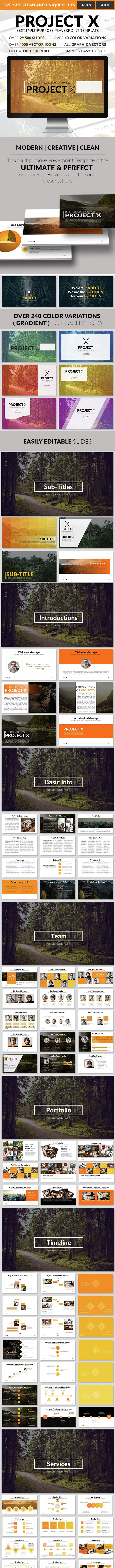 Project X – Multipurpose PowerPoint Template - PowerPoint Templates Presentation Templates