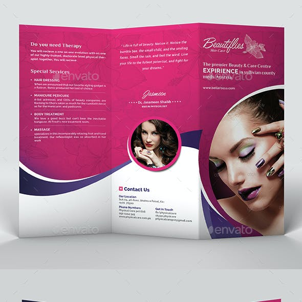 Beauty Salon Trifold Brochure