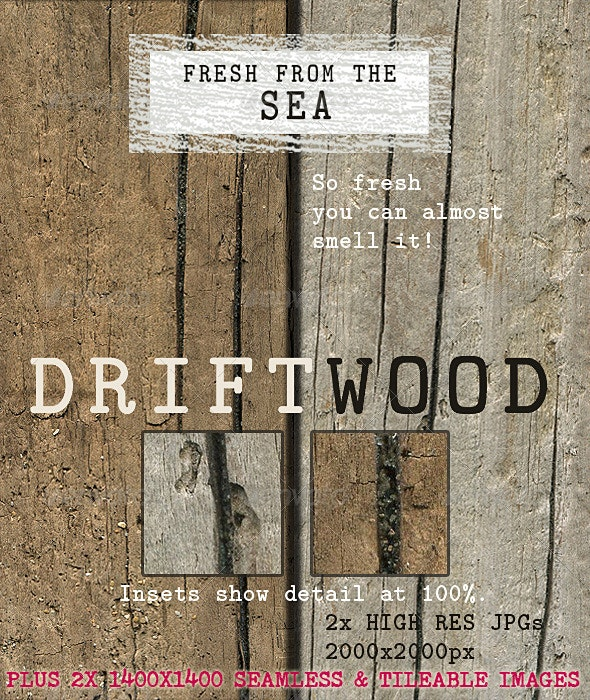 Beached Driftwood, Naturally Weathered - Wood Textures