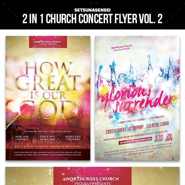 2 in 1 Church Concert Flyer Vol. 2