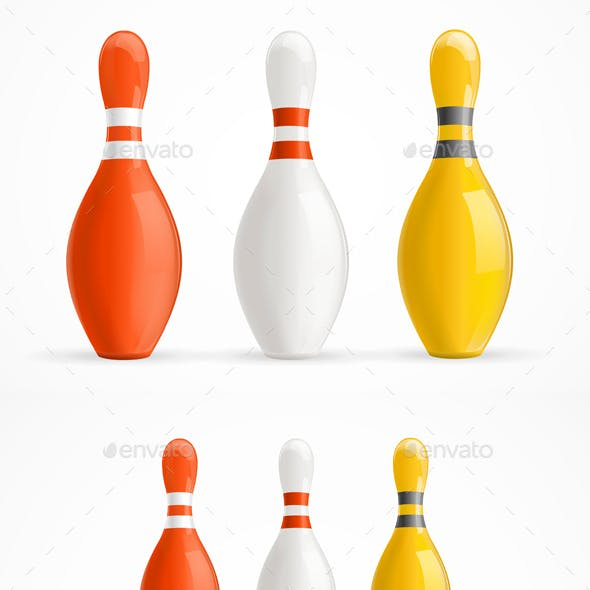 Group of Bowling Pins and Balls