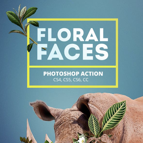 Floral Faces - Photoshop Action