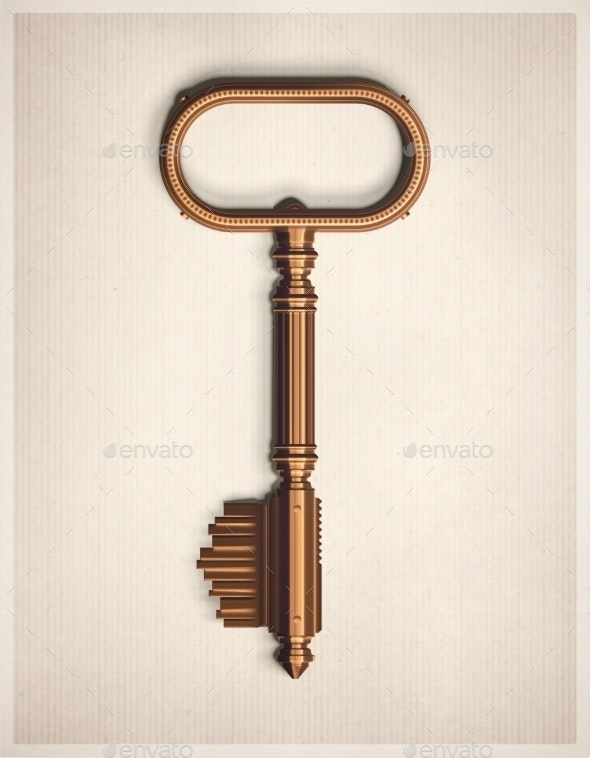 Retro Key - Man-made Objects Objects