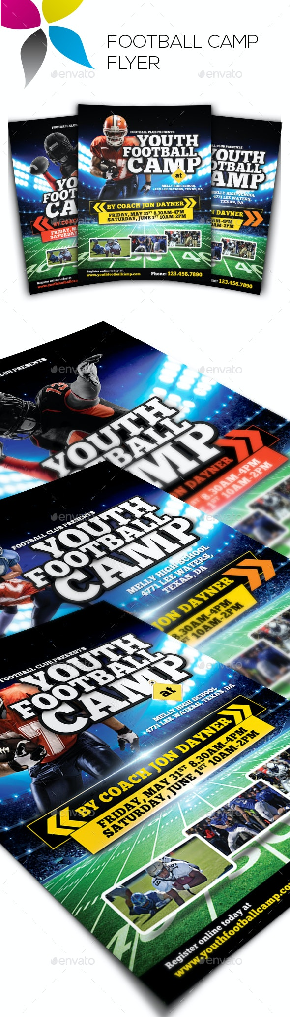 Football Camp Flyer - Sports Events