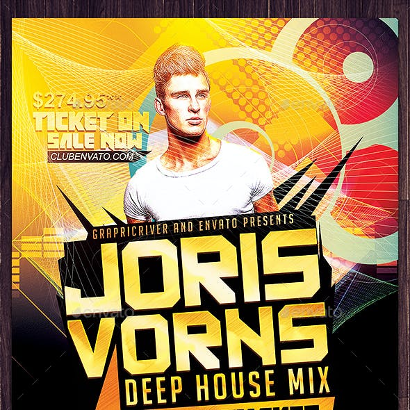 Deep House DJ Flyer