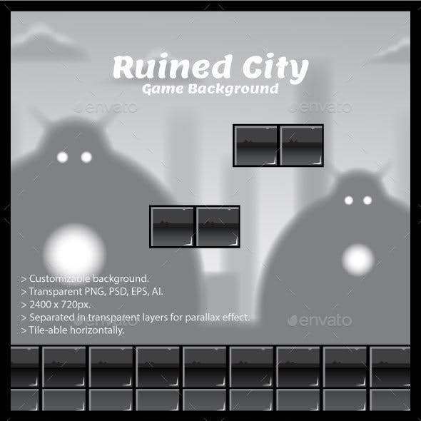 Ruined City Game Background