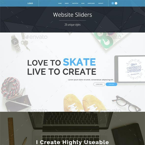Website Sliders 27 styles