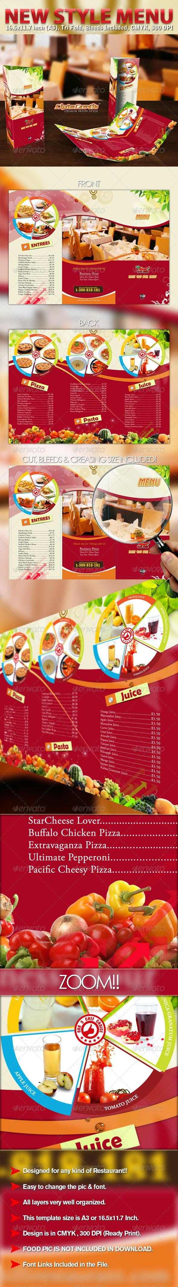 New Style Menu - Informational Brochures