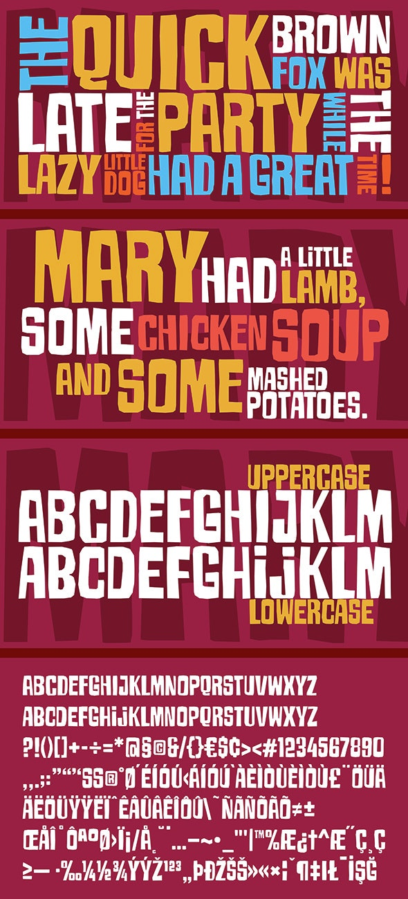 Armageda Typeface - Comic Decorative
