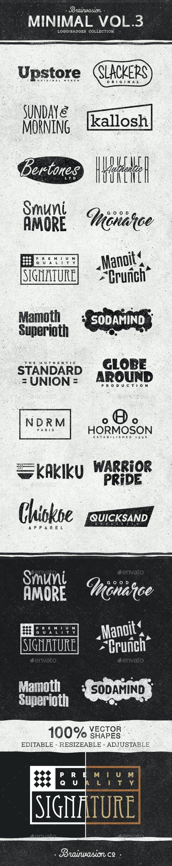 Minimal Logo/Badge Collection Vol.3 - Badges & Stickers Web Elements