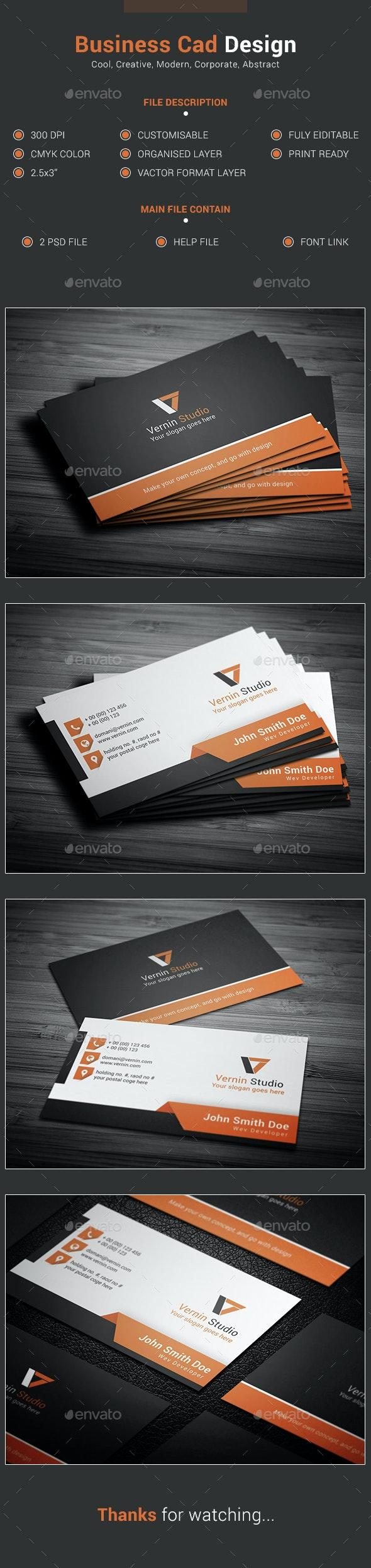 Vernin Business Card Design - Business Cards Print Templates
