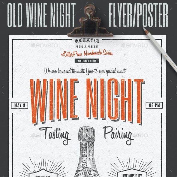 Vintage Wine Night Flyer/Poster