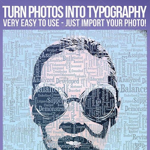 Photo To Typography treatment