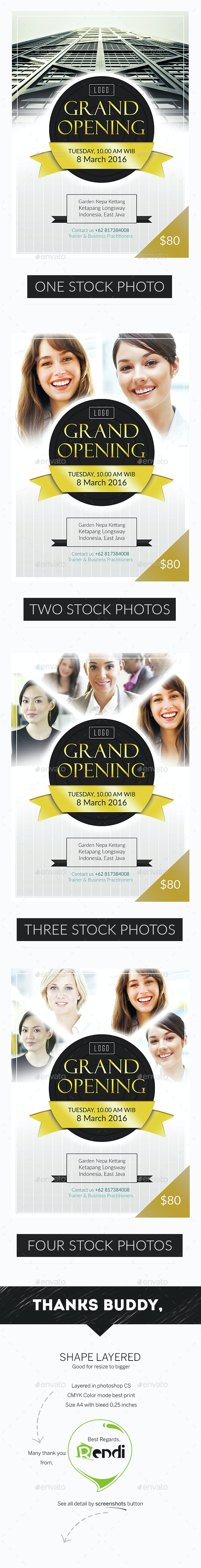 Grand Opening Professional - Corporate Flyers
