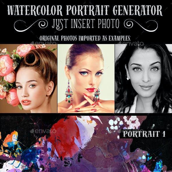 Watercolor Portrait Generator