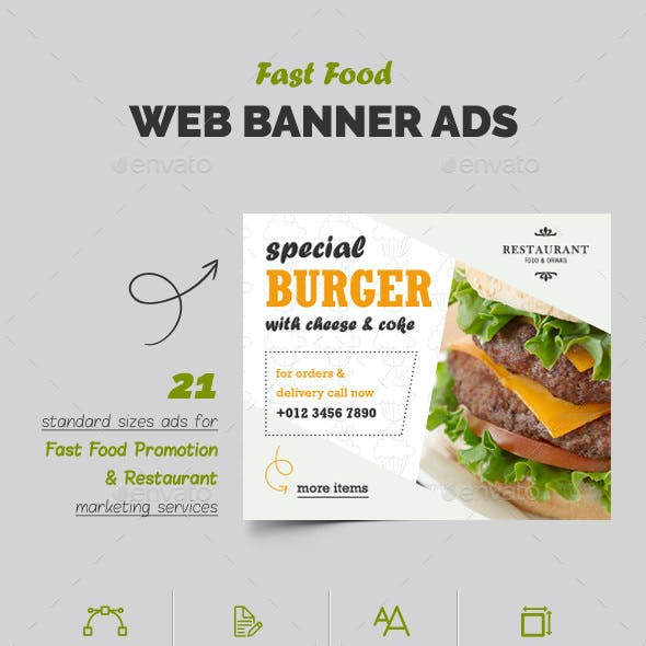 Fast Food Web Banner Ads