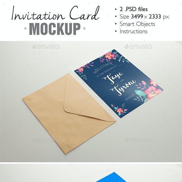 Invitation Card Mockup V 3 By Grapulo Graphicriver