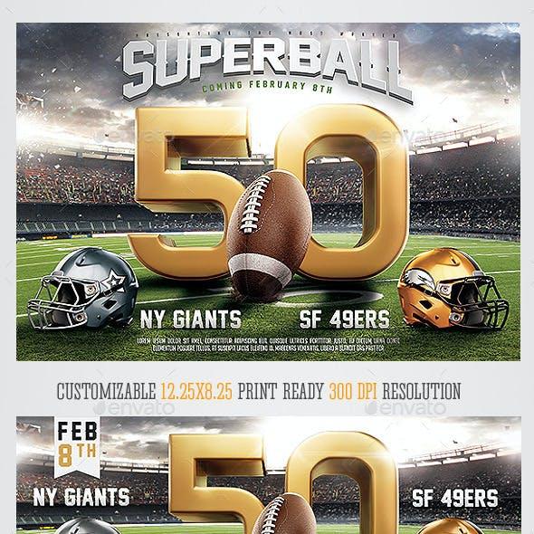 Super Ball American Football Flyer Template