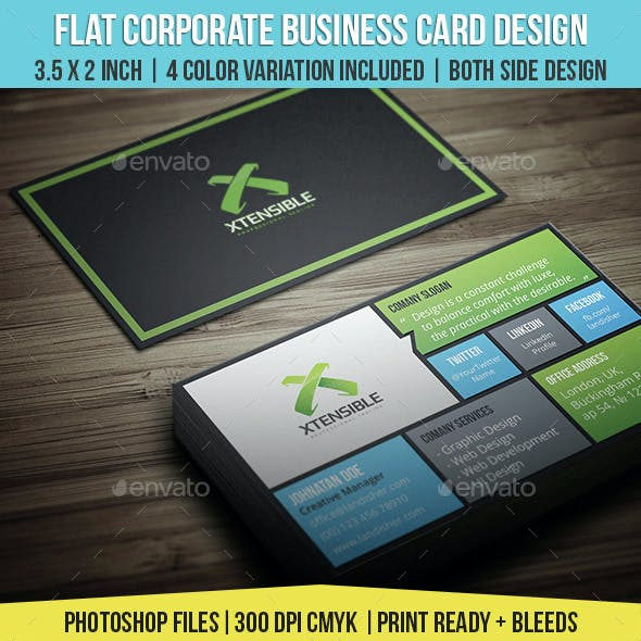 Flat Corporate & Personal Business Card