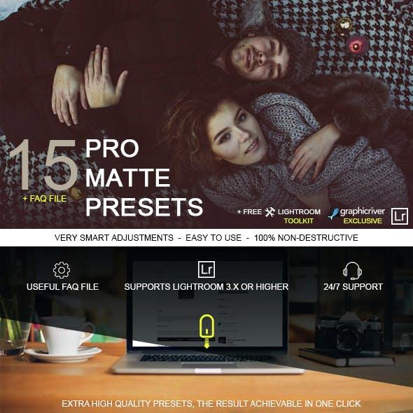15 Pro Matte Presets