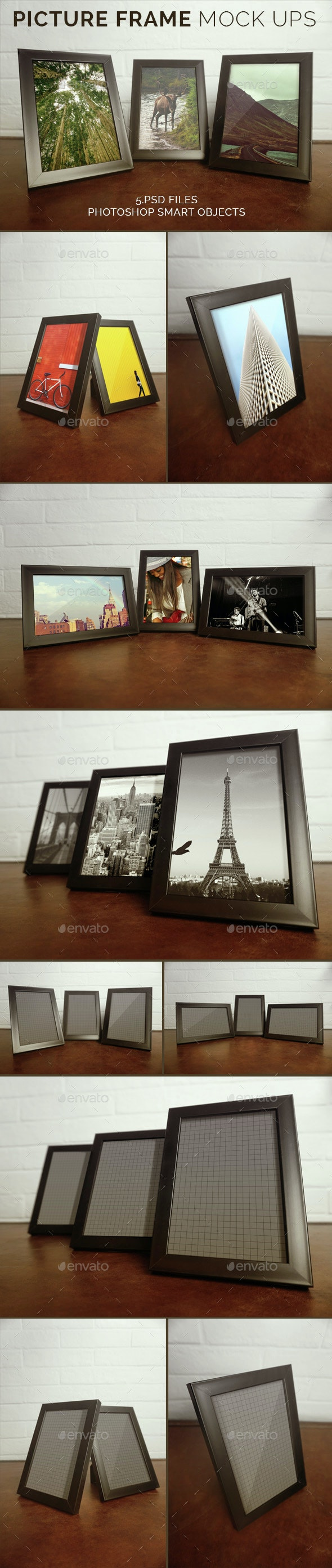 Picture Frame Mock Ups - Product Mock-Ups Graphics