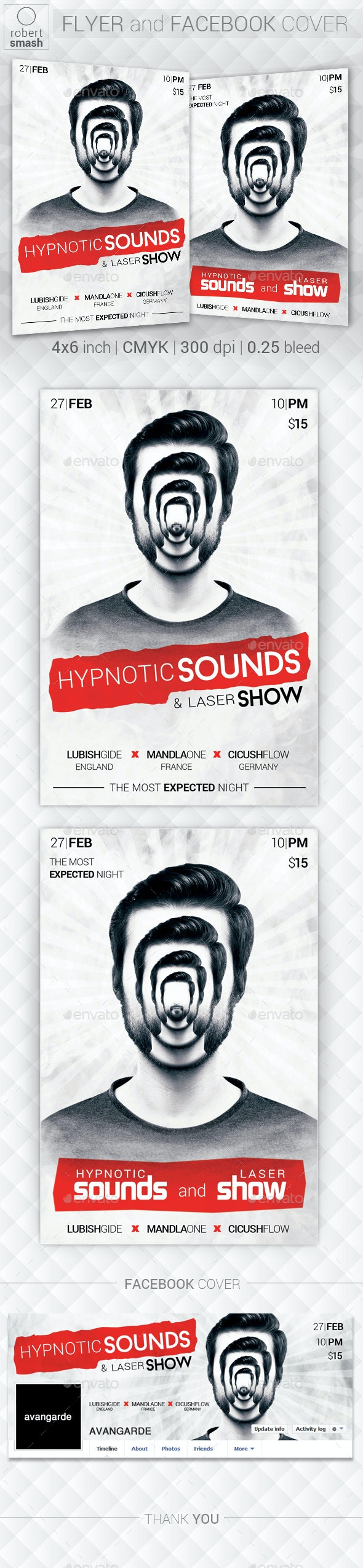 Hypnotic Sounds Flyer - Clubs & Parties Events